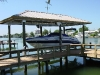 10,000 lb Aluminum Boathouse System (Hip Roof)