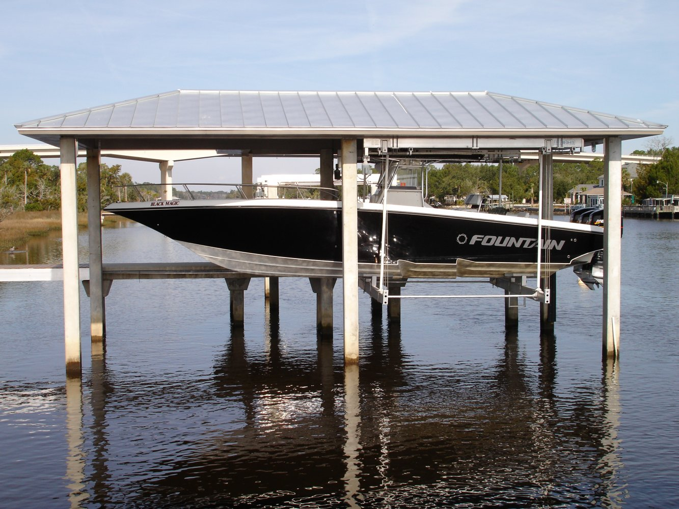 16,000 lb Concept CRS Hanging Boathouse Lift