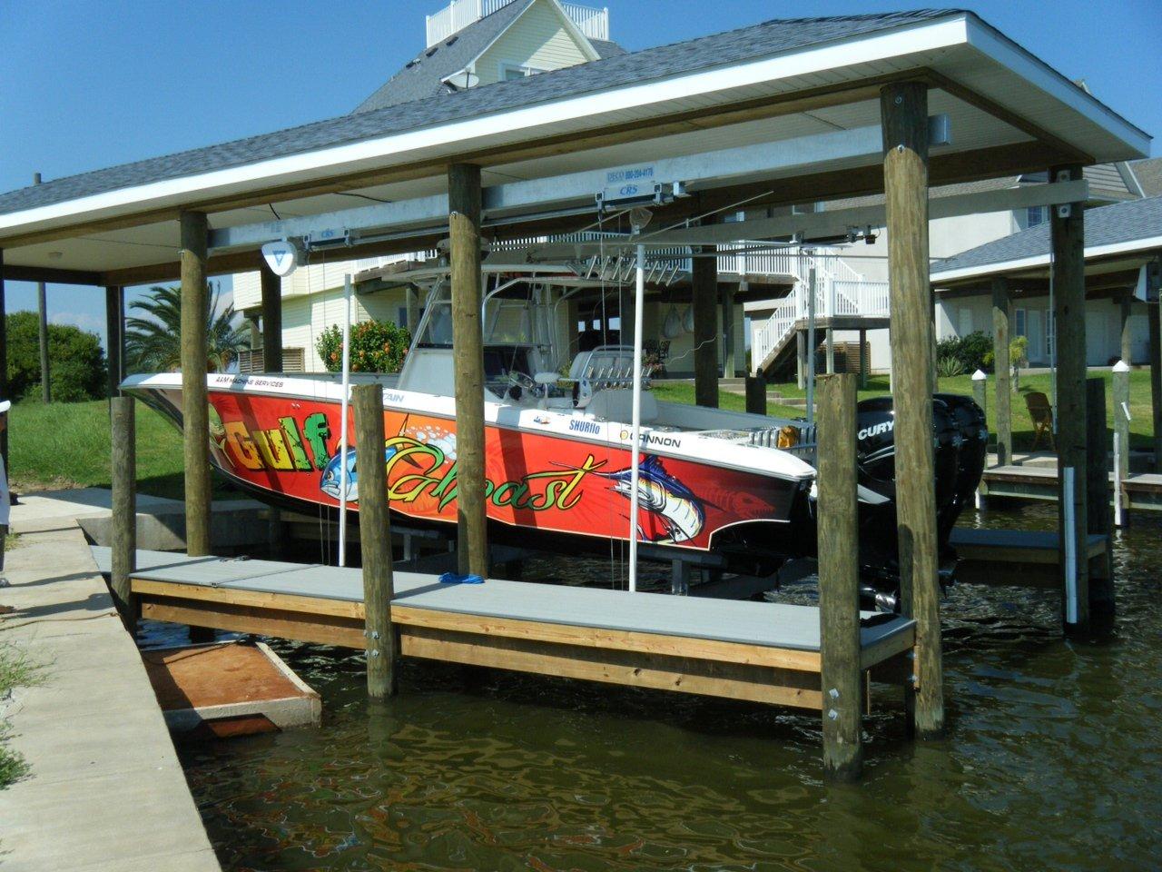 16,000 lb Custom Concept CRS Lift Boathouse Lift 6-Piling