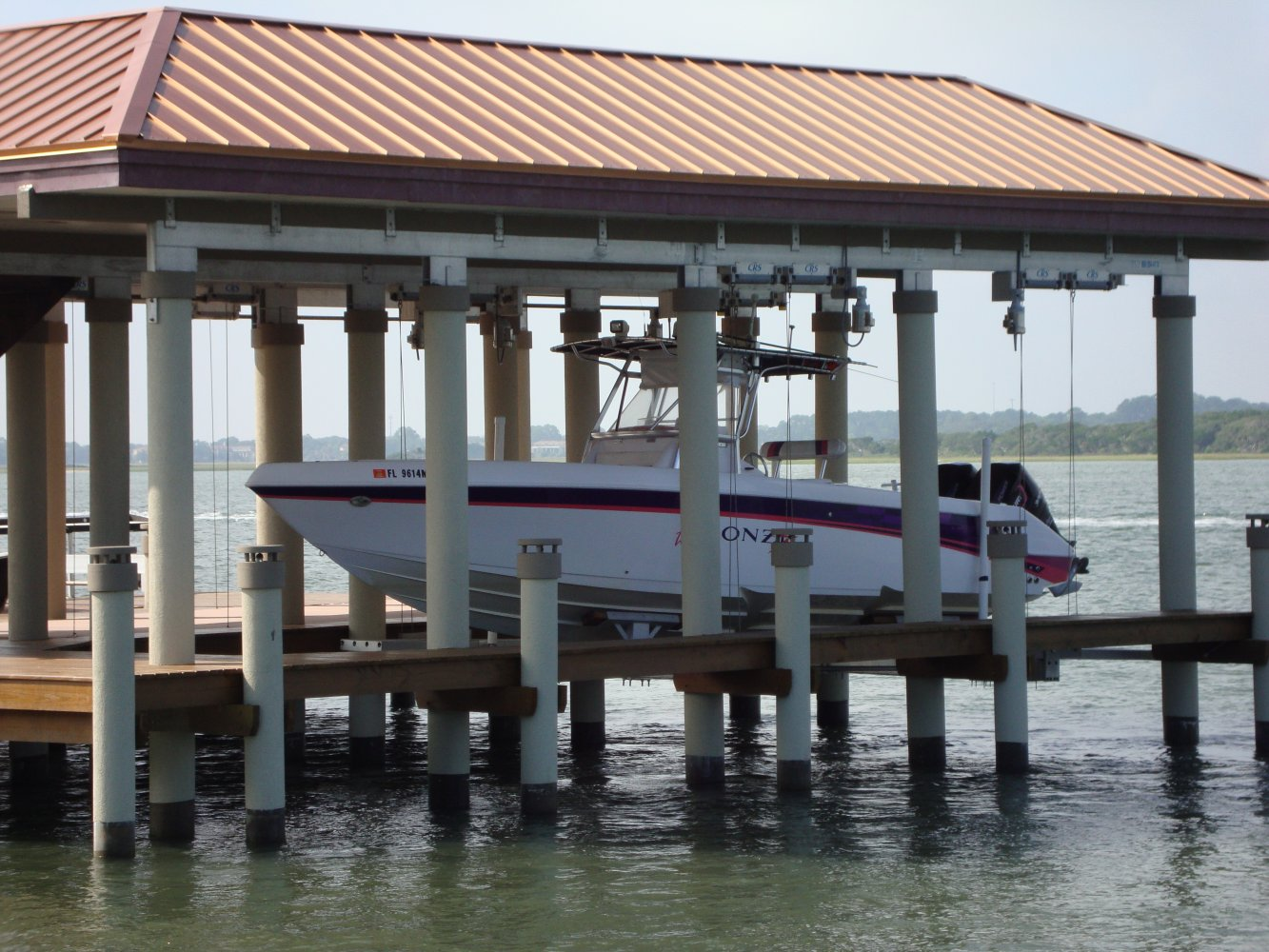 30,000 lb Custom Concept CRS Boathouse Lift