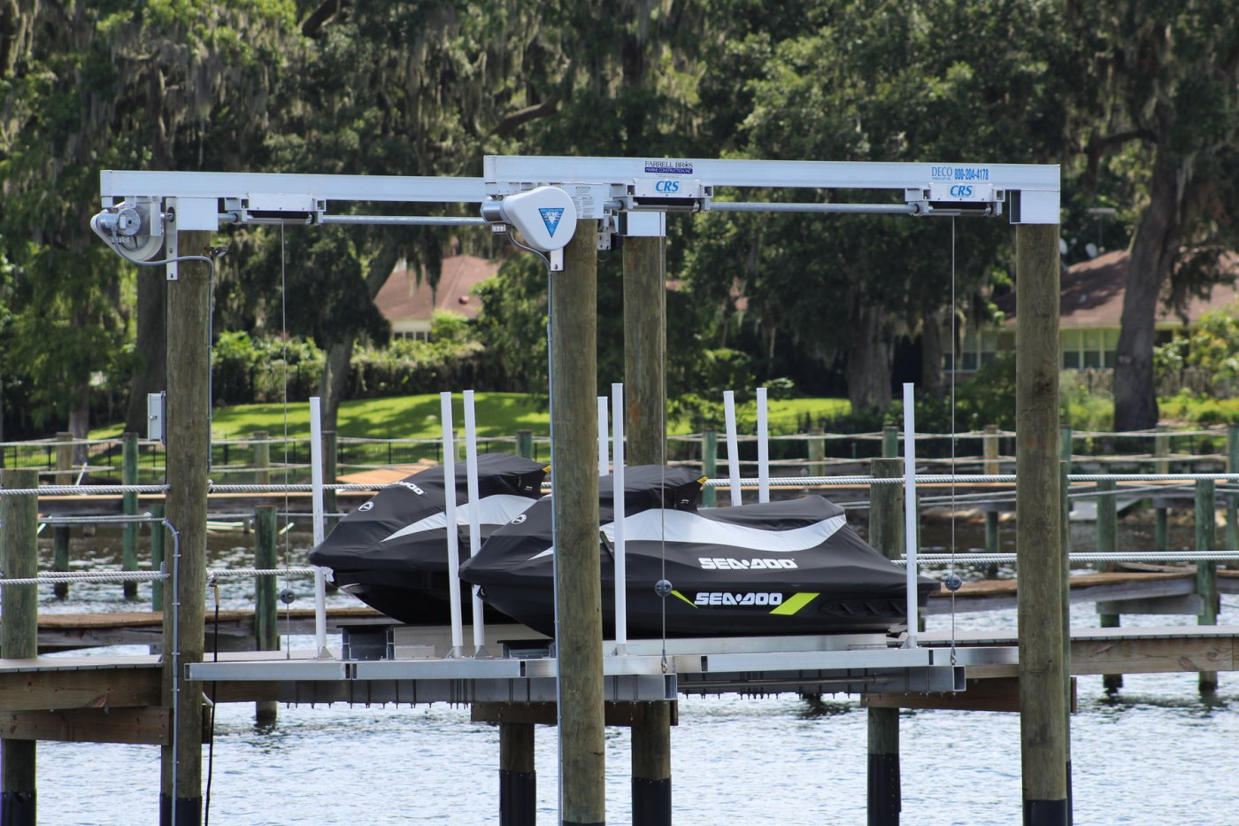 4,000 lb Deco Lift with CRS and Aluminum Deck for Dual PWC